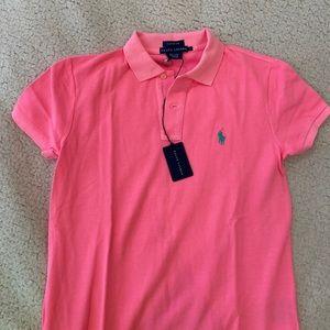 Hot pink Ralph Lauren polo
